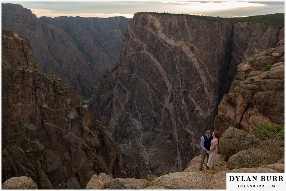 black canyon colorado elopement wedding adventure