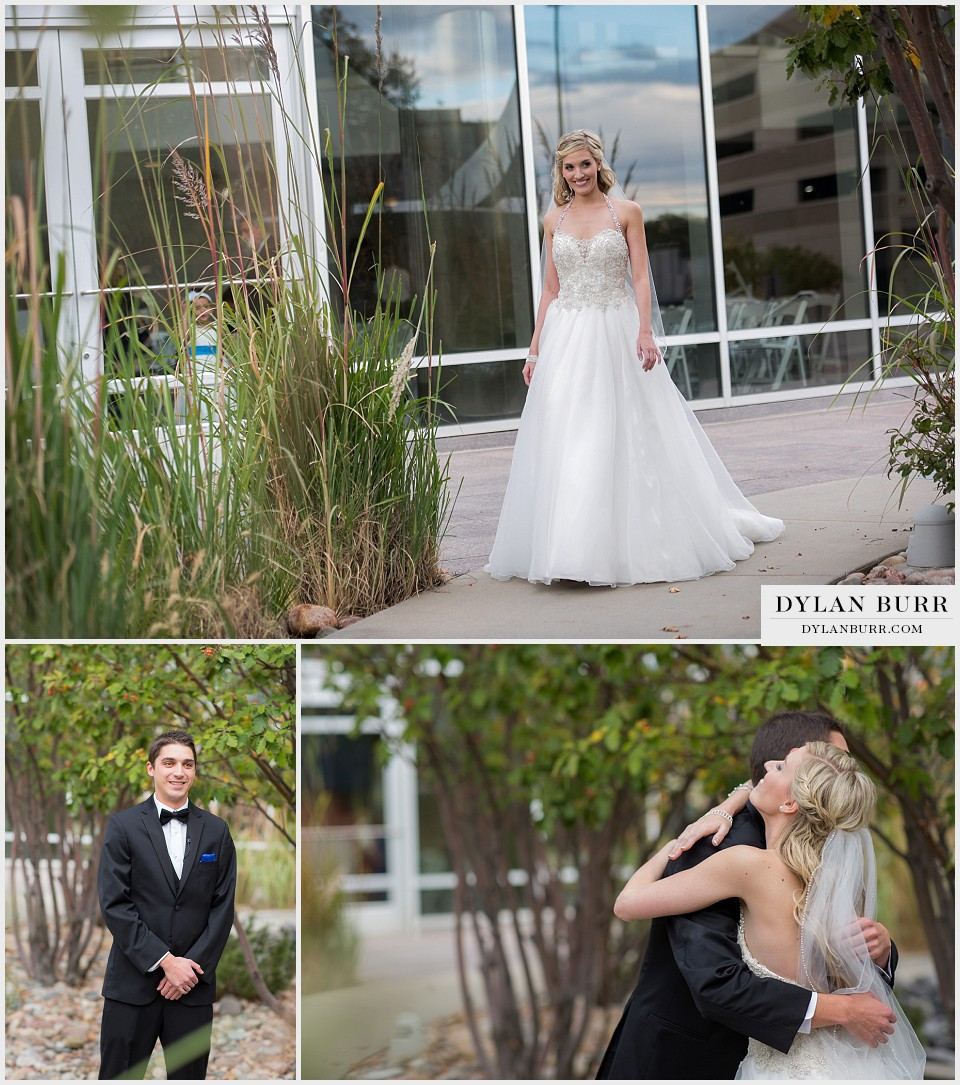 cable-center denver wedding first look glance