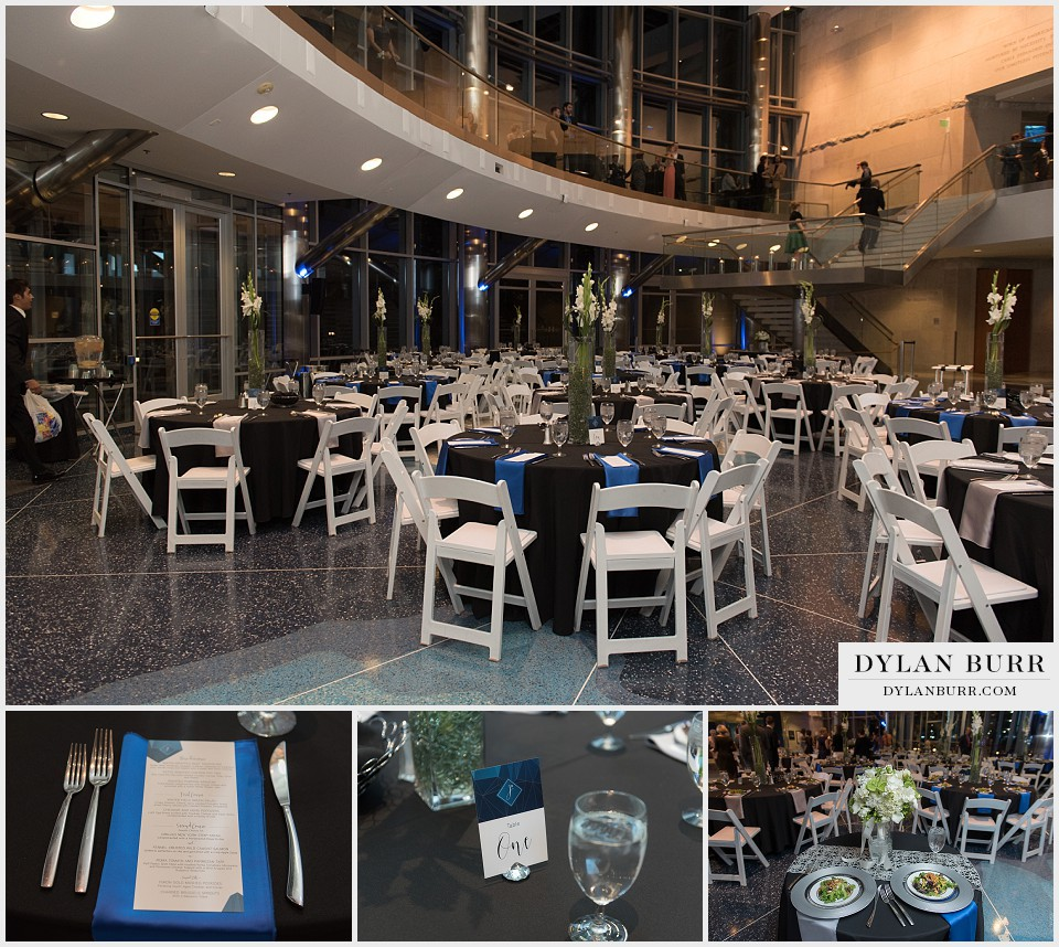 cable center denver wedding table settings reception