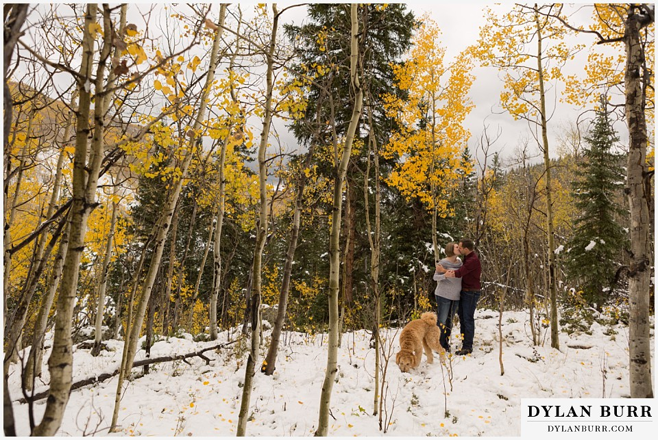 colorado mountain engagement session amazing fall leaf colors aspen trees