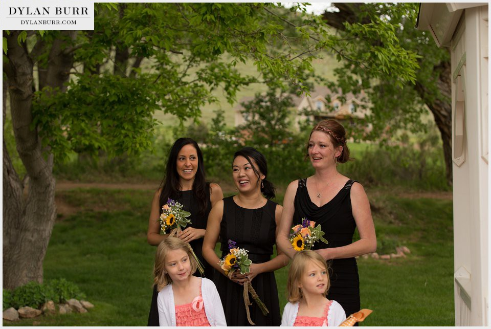 bridal party ellis ranch pink flower girls