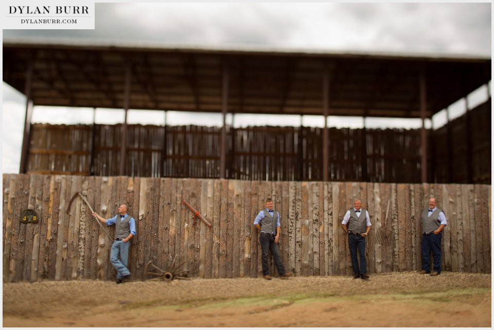 colorado ranch wedding tough groomsmen