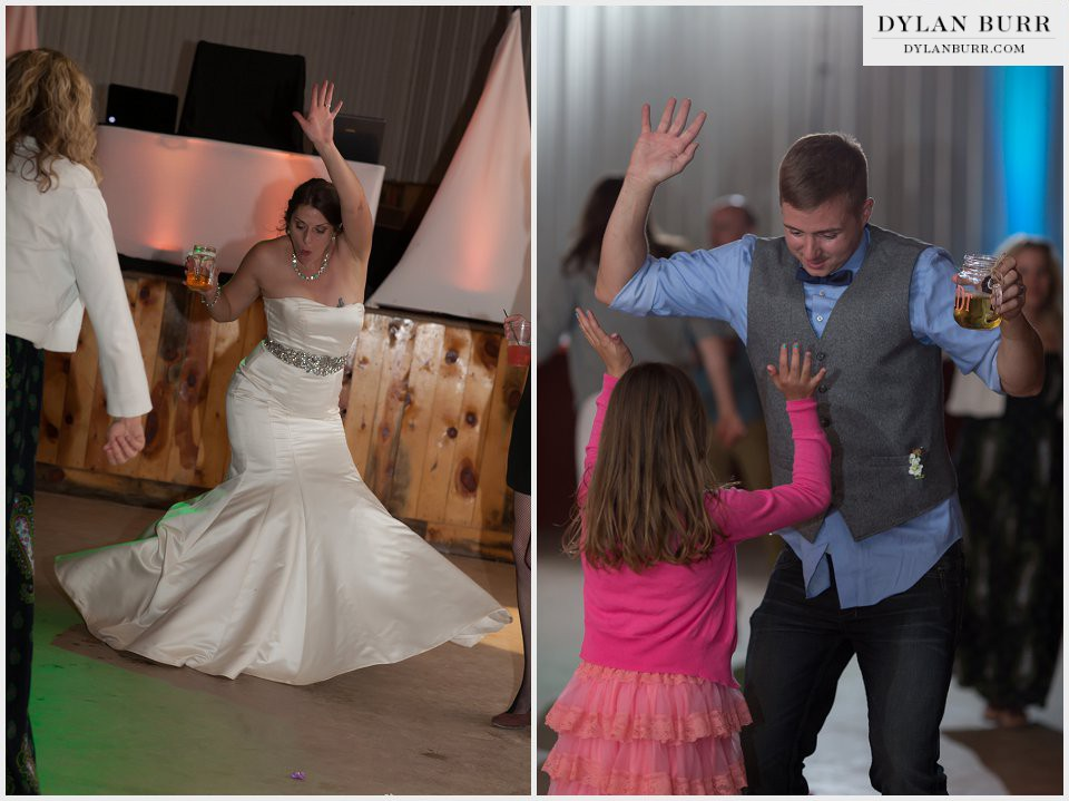 colorado wedding recption party dancing