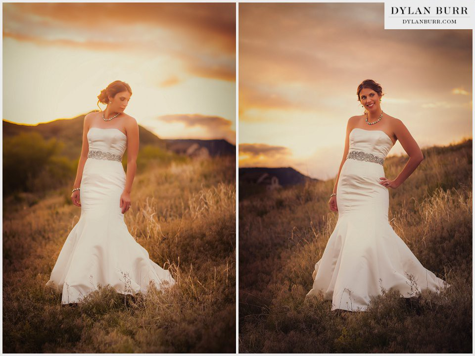 colorado wedding sunset photos