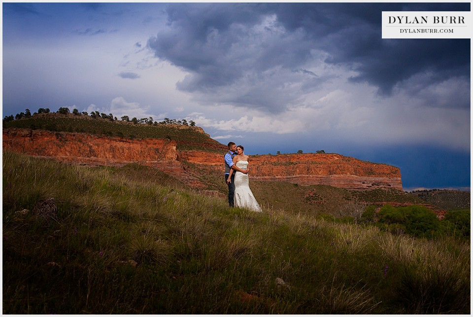 creative wedding photo in loveland co bride groom