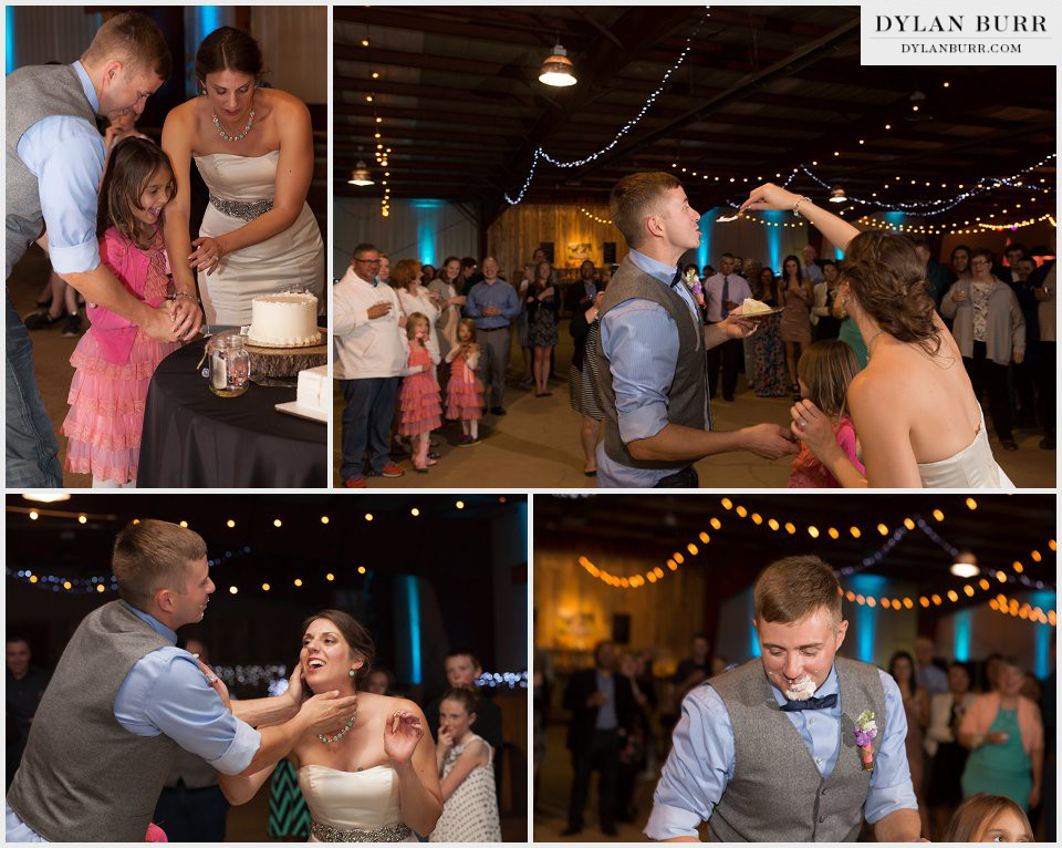 cutting the cake colorado ranch wedding