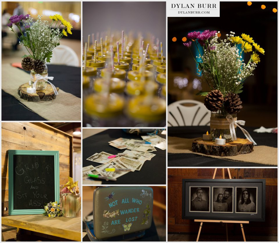 ellis ranch reception wedding details colorado