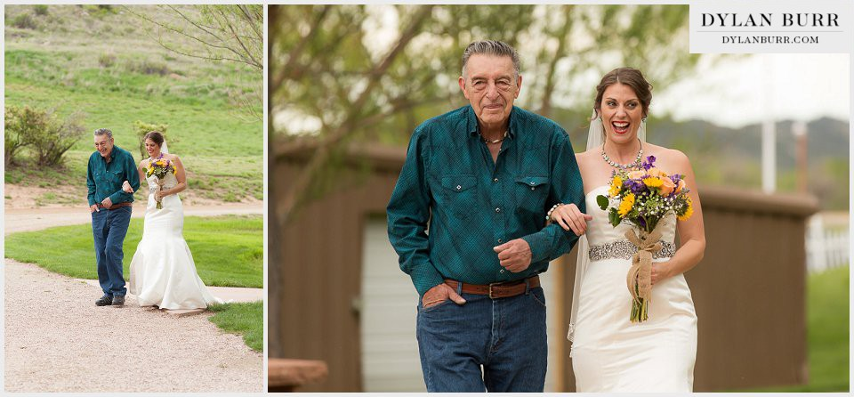 ellis ranch wedding bride father aisle