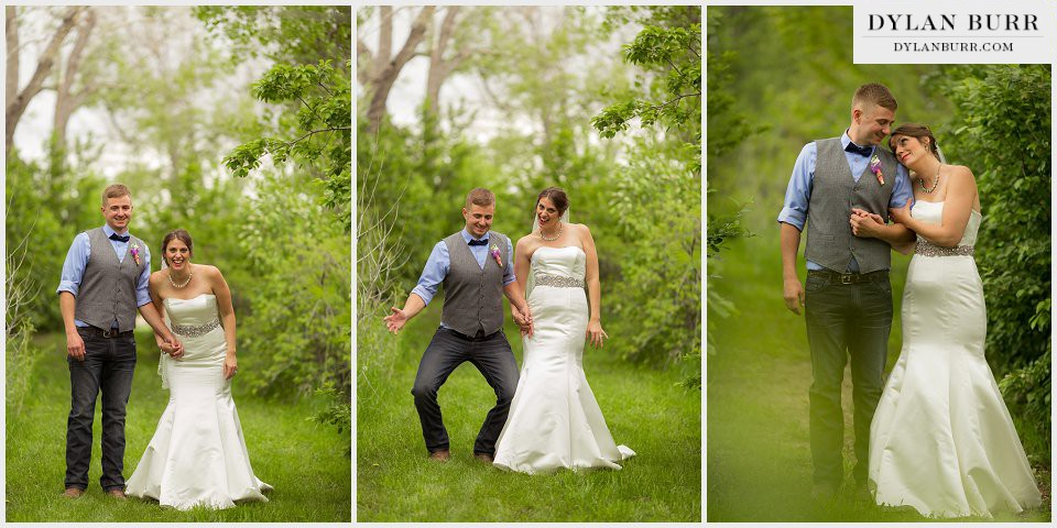 fun wedding pictures ellis ranch colorado