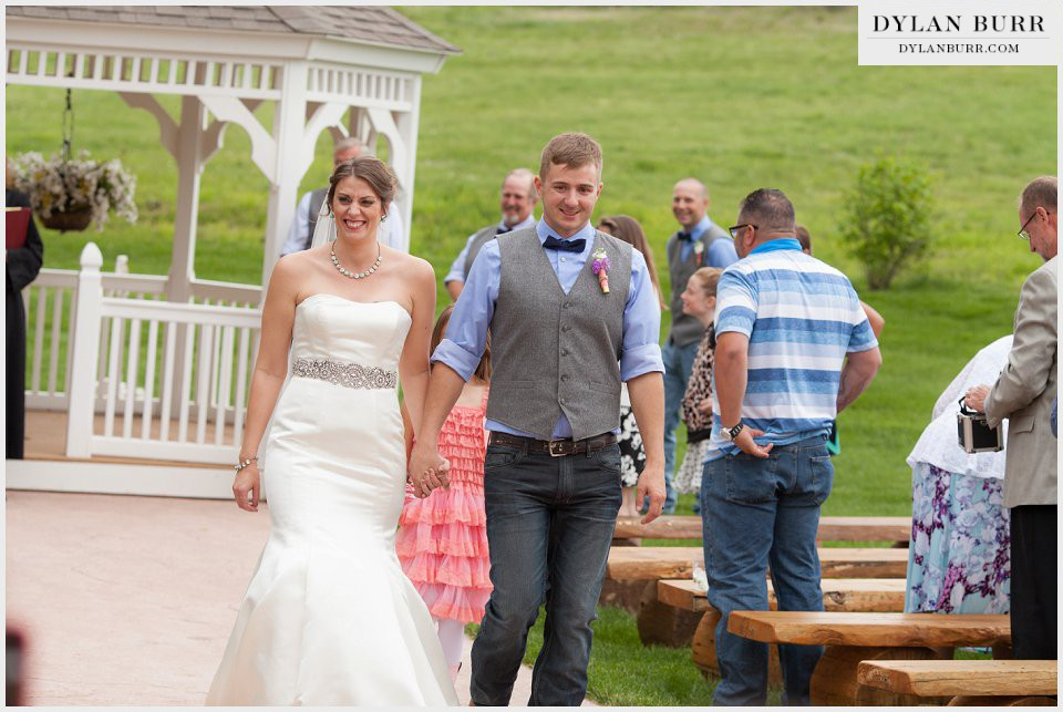 newlyweds wedding ceremony ellis ranch wedding loveland colorado