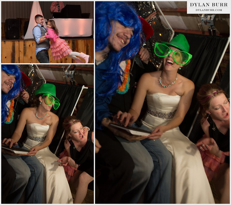 photobooth fun colorado wedding reception