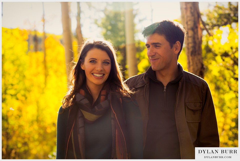 colorado fall engagement photography