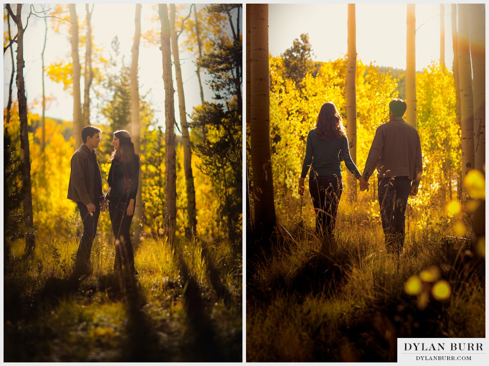 colorado fall engagement photos