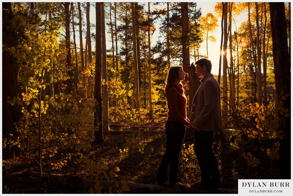 sunset colorado engagement photography in fall
