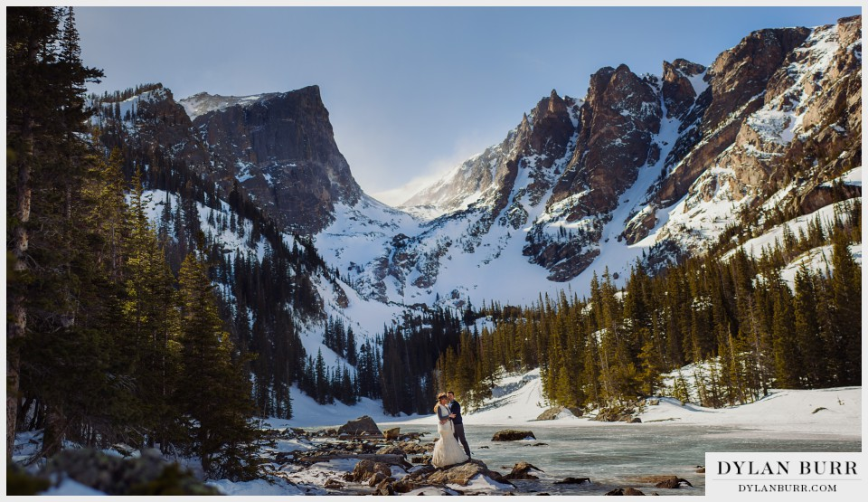 estes park colorado winter wedding anniversary dream lake