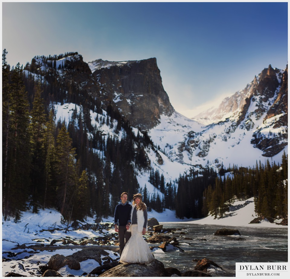 estes park colorado winter wedding anniversary photos