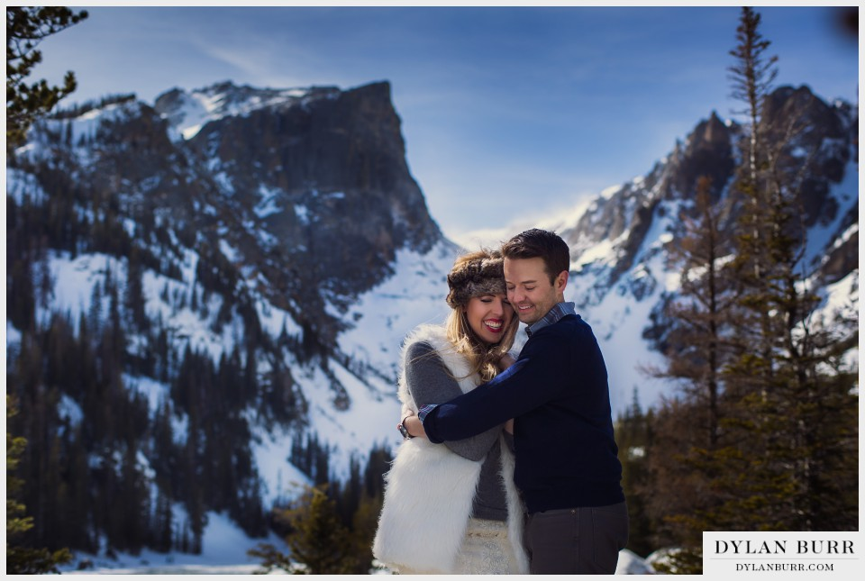 estes park colorado winter wedding anniversary