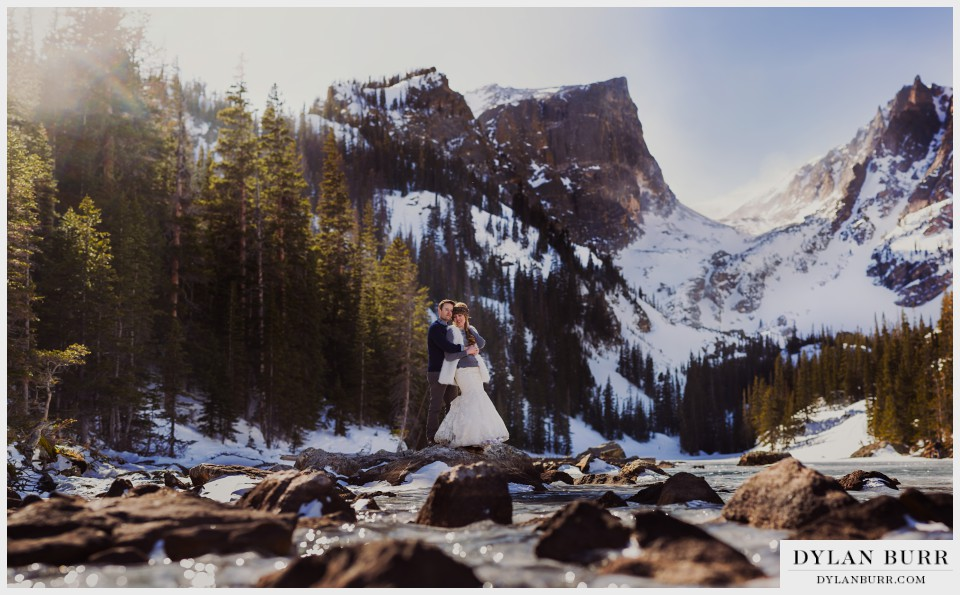 estes park colorado winter wedding