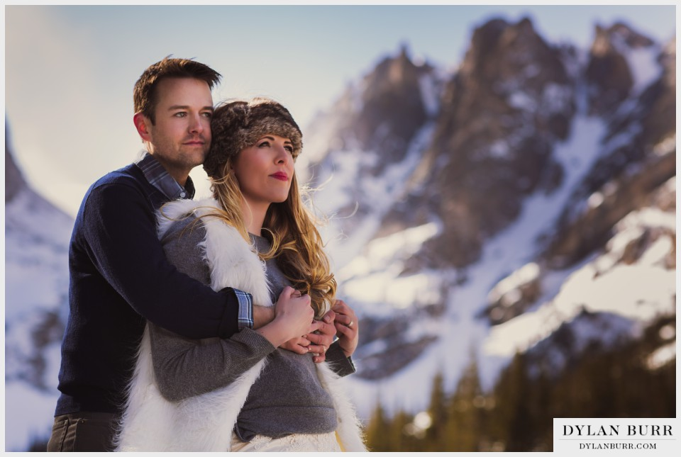 romantic colorado winter wedding photos