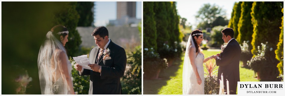 colorado wedding photographer denver botanic gardens ceremony vows