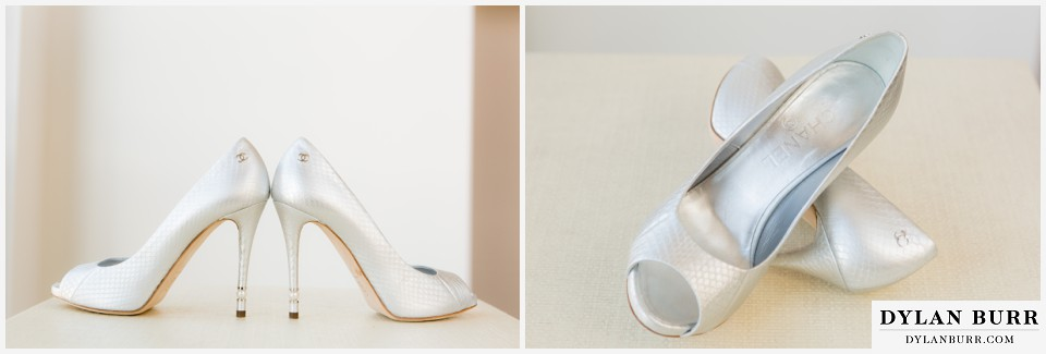 colorado-wedding-photographer-denver-botanic-gardens-chanel-silver-brides-shoes