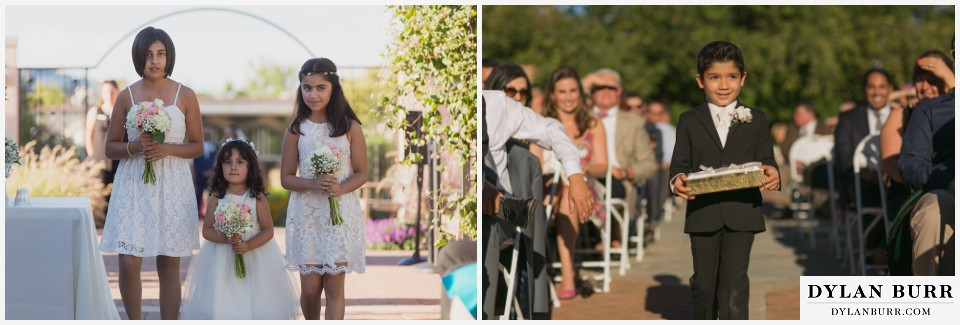 colorado wedding photographer denver botanic gardens flower girls ring bearer