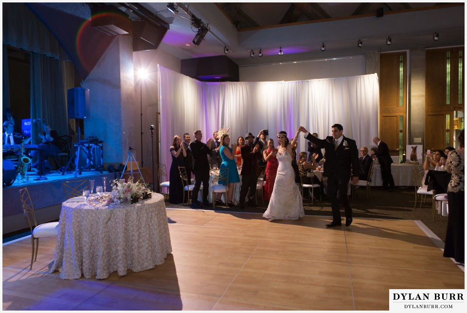 colorado wedding photographer denver botanic gardens reception mitchell hall