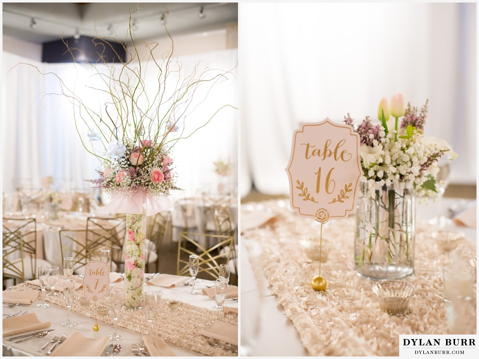 colorado wedding photographer denver botanic gardens reception table setting mitchell hall