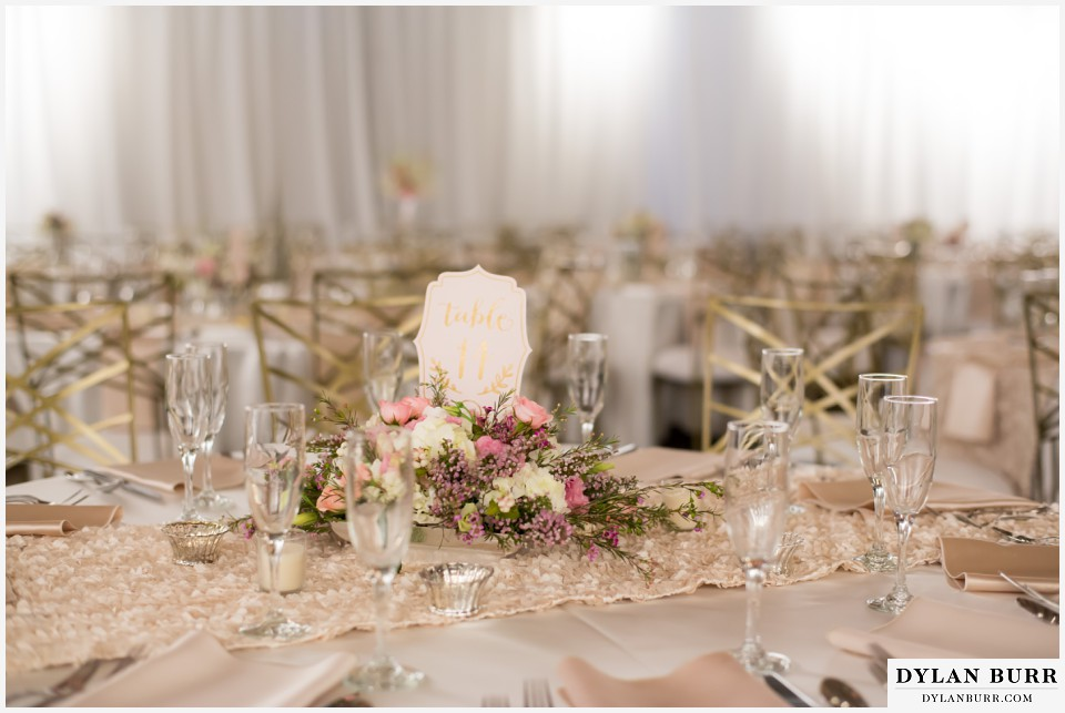 colorado wedding photographer denver botanic gardens table setting reception