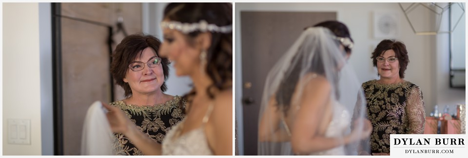 colorado wedding photographer denver halcyon brides mom tears