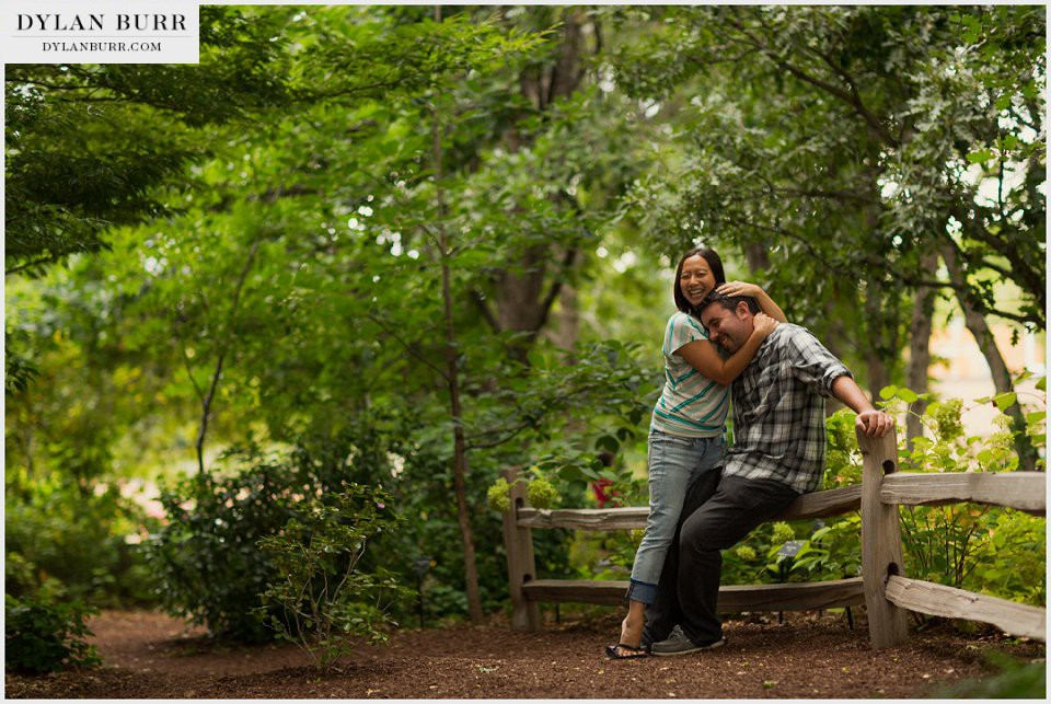 denver engagement photos botanic gardens