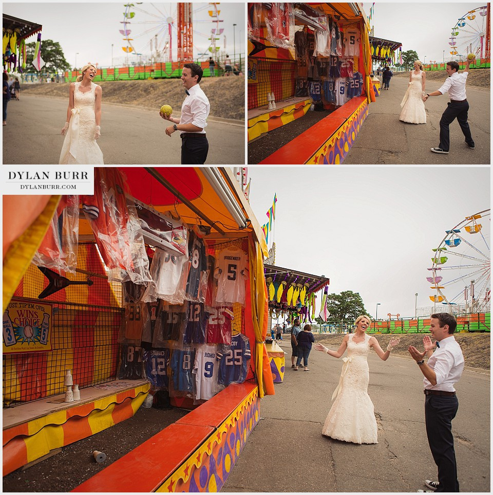 /carnival anniversary engagement photos bottle game denver county fair