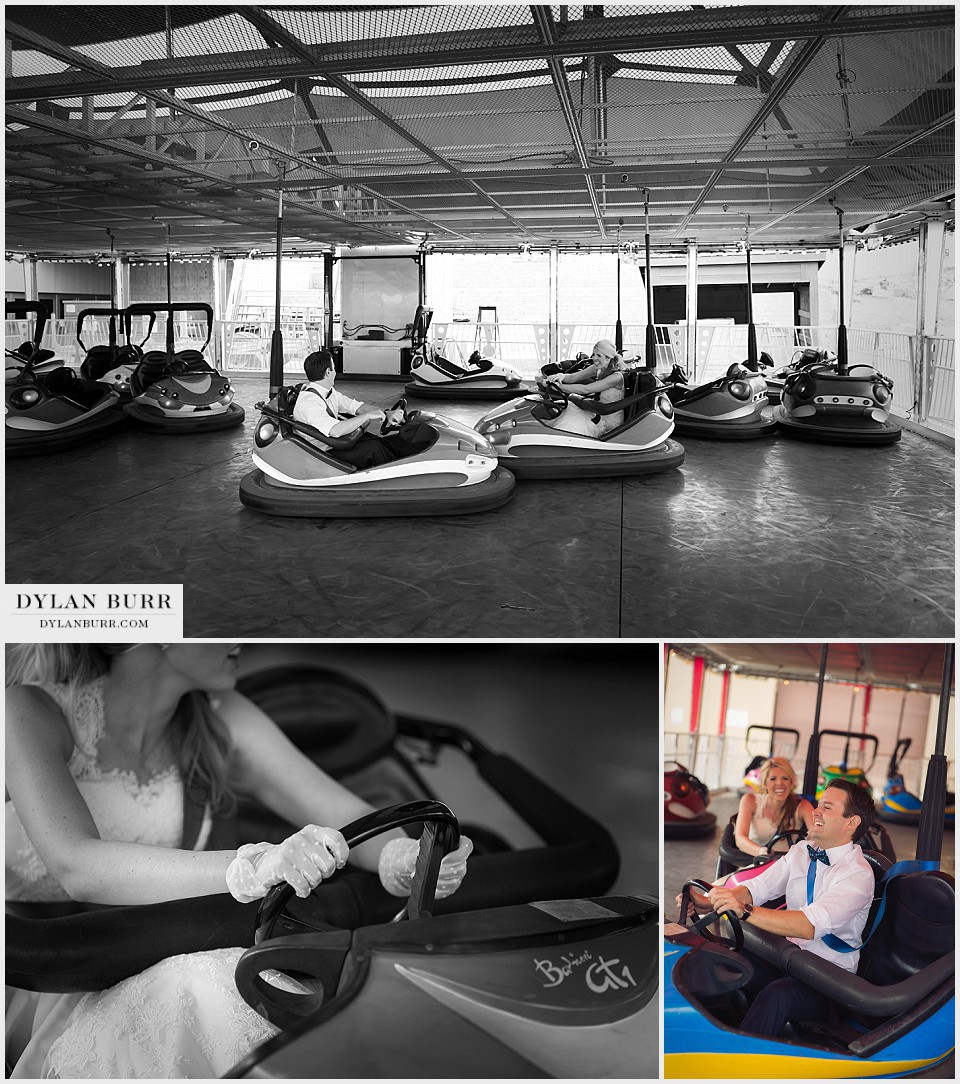 denver county carnival engagement anniversary photos bumper cars