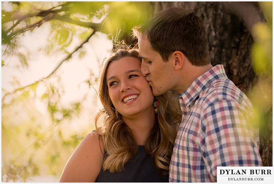 denver engagement session cheek kisses sloans lake