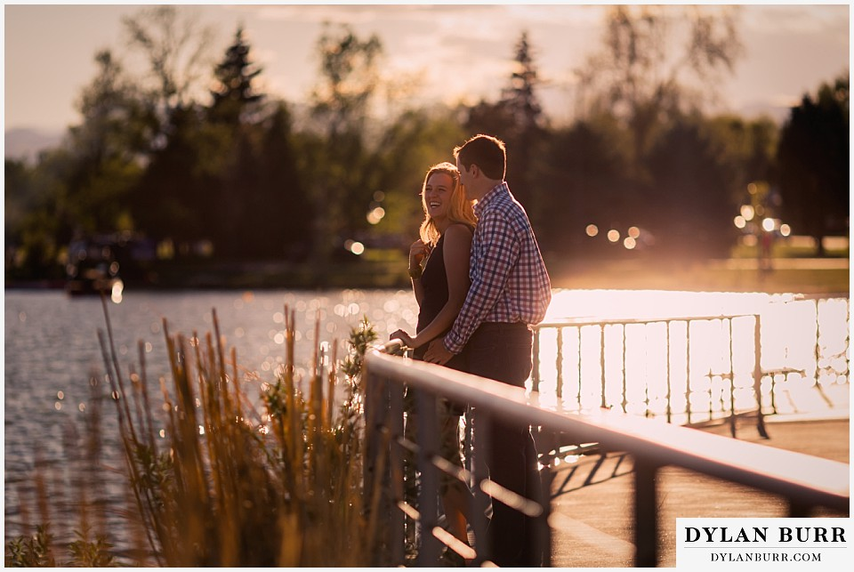 denver engagement session sunset at sloans lake
