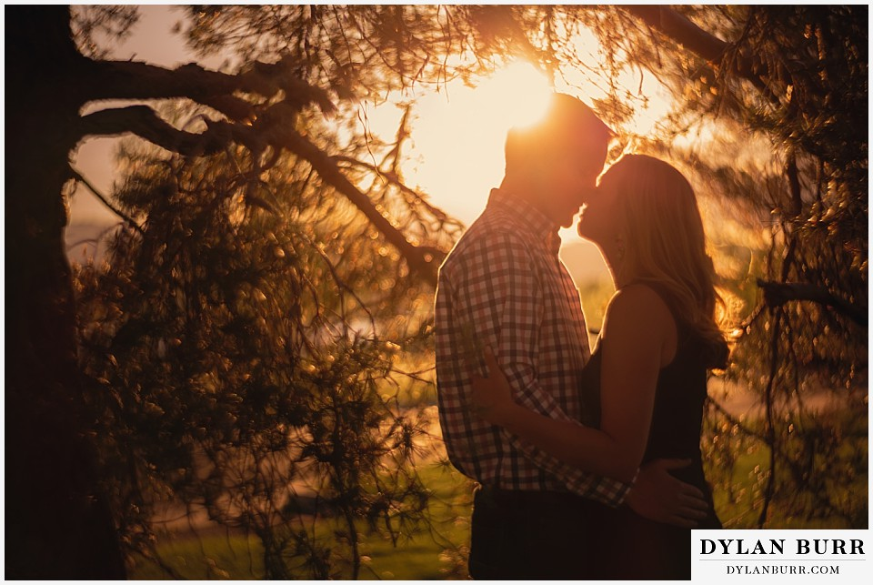 denver engagement session couples sunset portraits sloans lake