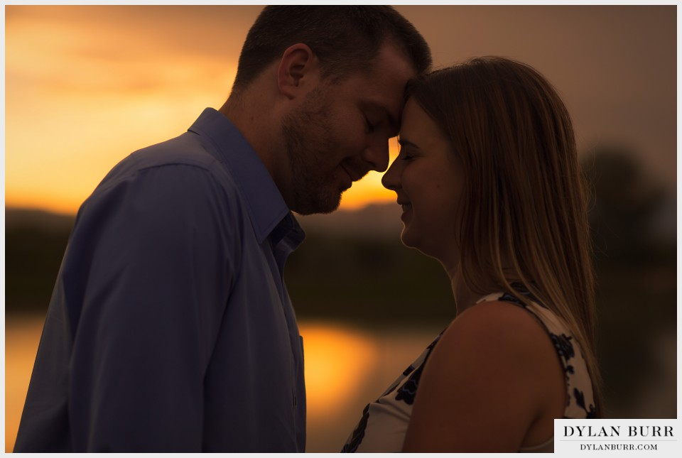 denver sunset engagement photography