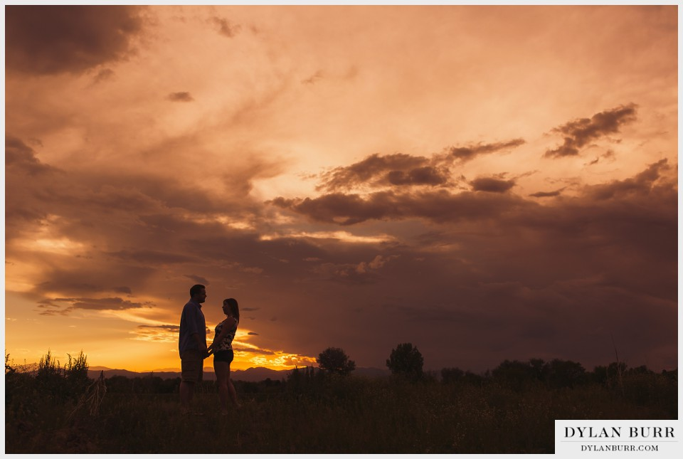 denver sunset engagement photos
