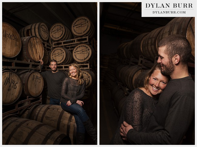 creative denver engagement photos stranahans distillery