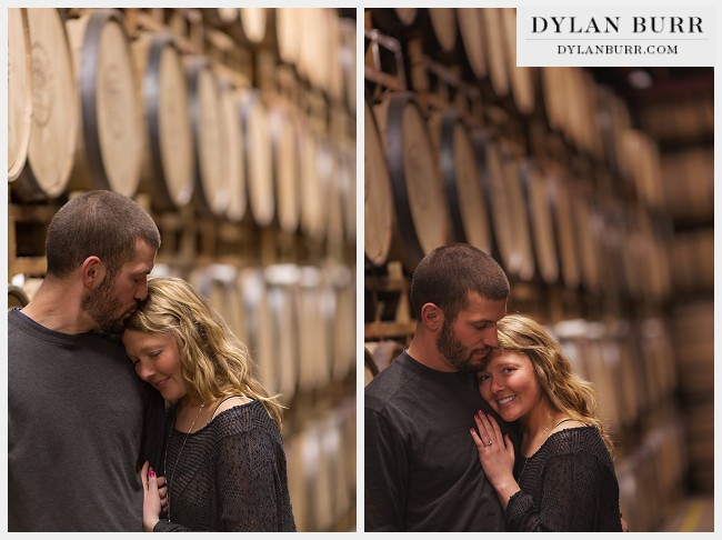denver engagement photographer whiskey barrel rackhouse