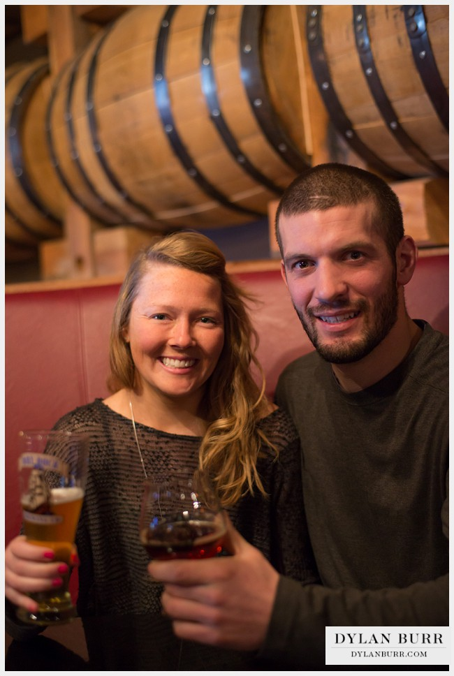 denver engagement photos rackhouse bar stranahans distillery