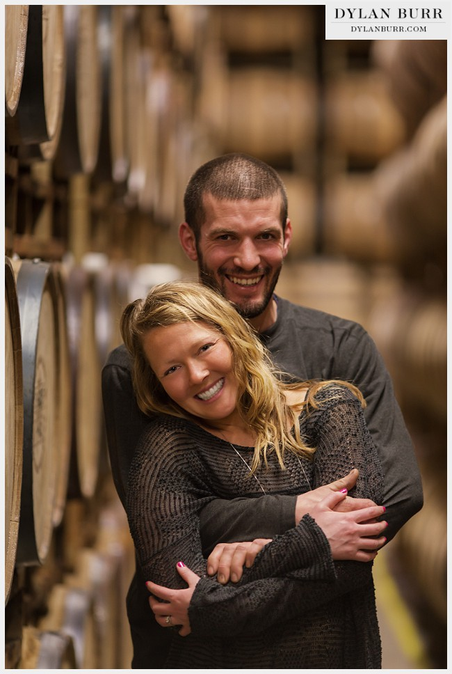 fun engagement photos denver colorado whiskey tour