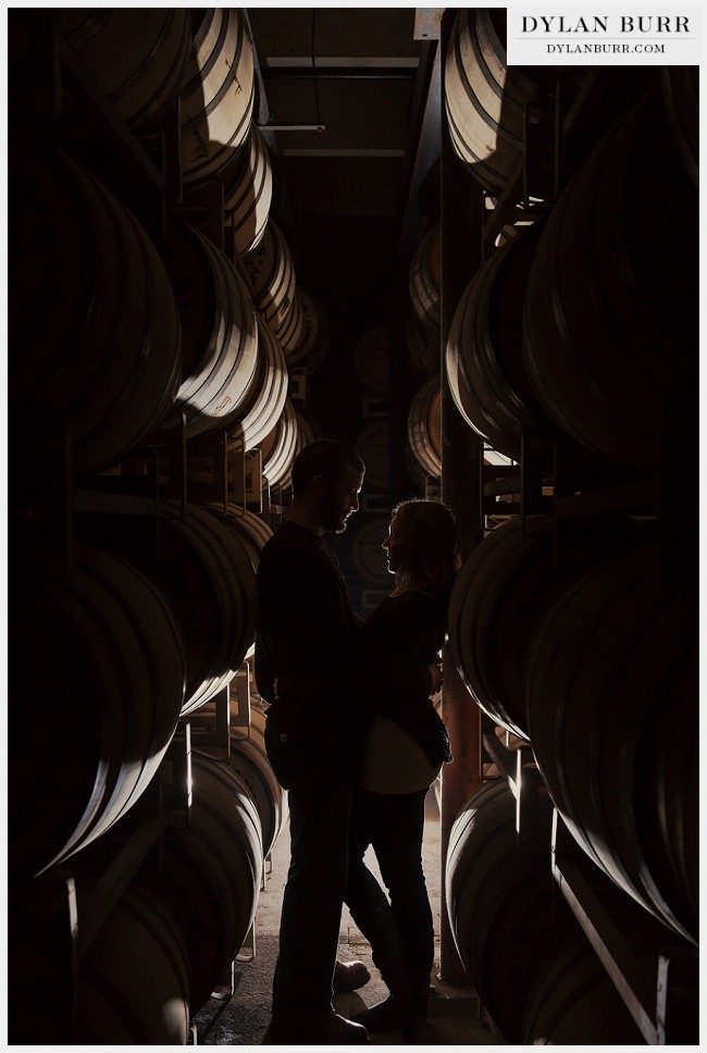 unique denver engagement photos silhouette barrels