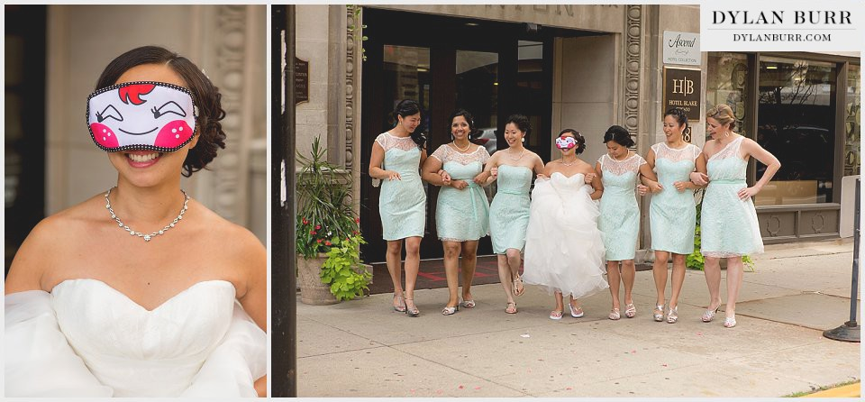 chicago wedding fun bridal party chinese