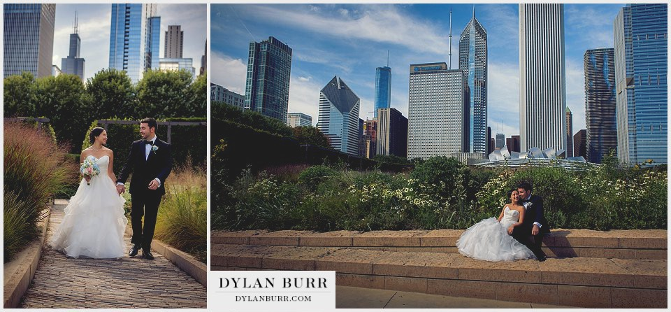 chicago wedding millenium park prudential building willis sears tower