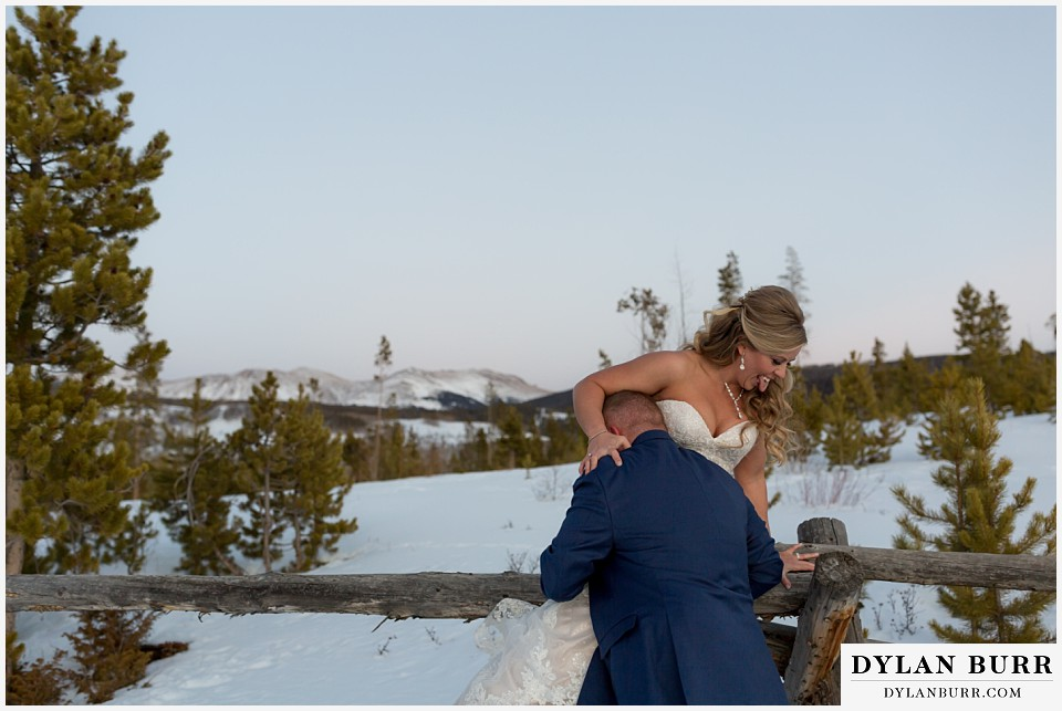 devils thumb ranch wedding in winter couples portraits