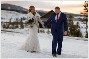 devils thumb ranch winter wedding
