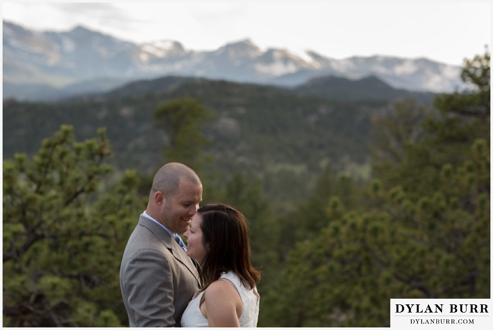 rocky mountain estes park engagement session close up of couple