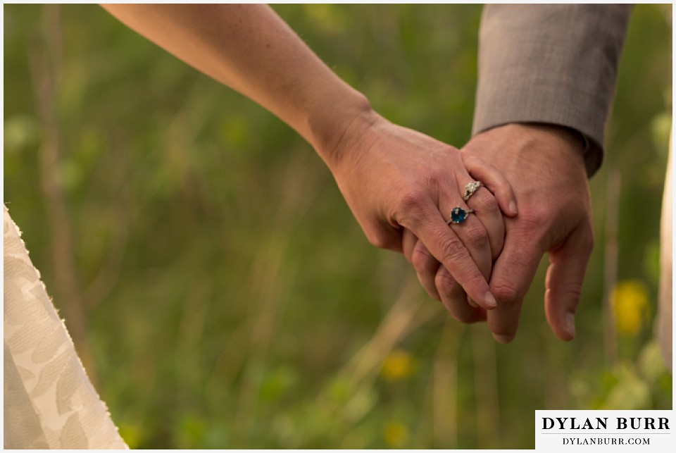 rocky mountain estes park engagement session engagement rings