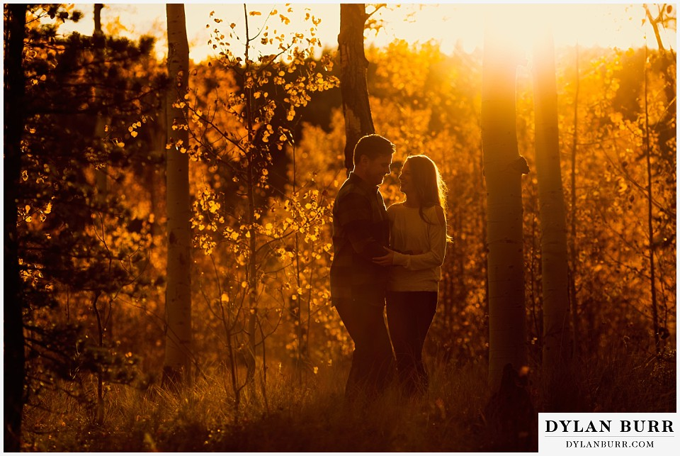 colorado mountains fall sunset engagement photo session